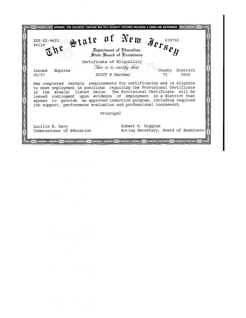 Certification scott r kercher resume blog xflitez Choice Image